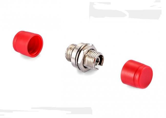 Round Small D Fiber Optical Adapter , Flange FC - FC Flexible Coupling Adapter