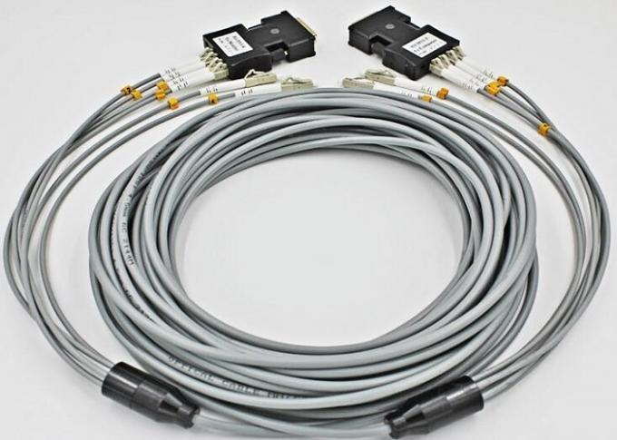 LC - LC Multimode Fiber Patch Cord , 6 Core Gray Armored Patch Cable For FTTH