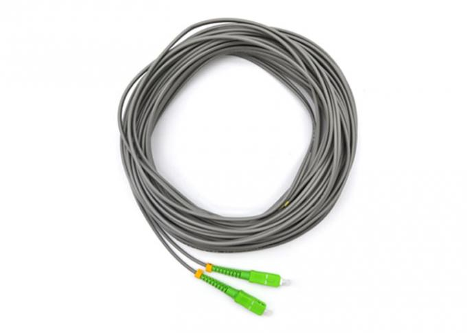 SC / APC Optical Fiber Pigtail Single Mode Simplex 2 Core 50M With LSZH Jacket