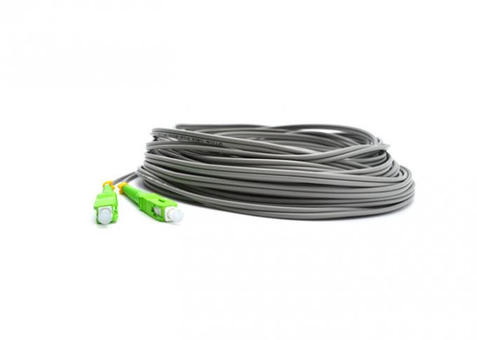 Simplex SC / APC Pigtail SM G652D 2.0mm 2 Core Single Mode Fiber Jumpers