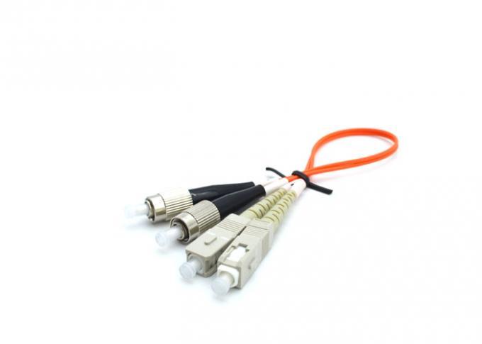 50 125 Fiber Optic Cable Various Color , 3M Multiplex LC ST Fiber Patch Cable