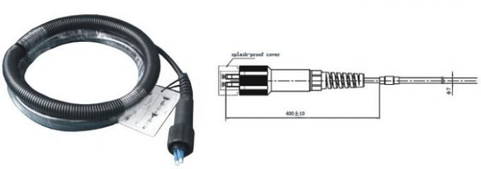 DLC - DLC Duplex Patch Cord 7.0mm , FTTa 4 Core Multimode Fiber Optic Cable