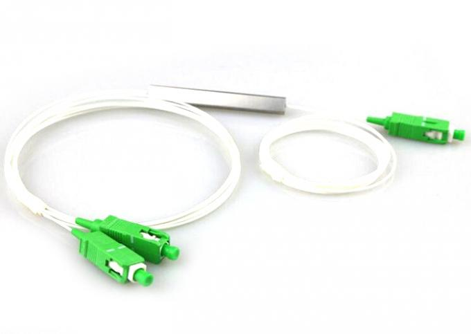 1 * 2 Bare PLC Splitter 250um , Superior Uniformity Passive Optical Splitter