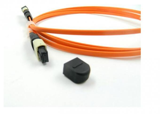 OM1 OM2 MPO Trunk Cable , MTP - MPO Fiber Connector For LAN Network