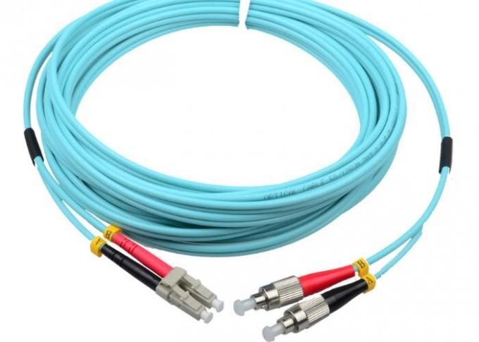 OM3 OM4 Fiber Optic Patch Cord Stability Length Customized With LC Connector