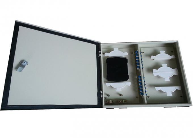 ODF 24 Fc Port Wall Mount Patch Panel Enclosure , Fiber Optic Terminal Box
