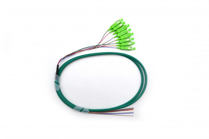 High Return Loss Optical Fiber Pigtail 8 Cores SC SM Patch Cord Fan-Out Pigtail