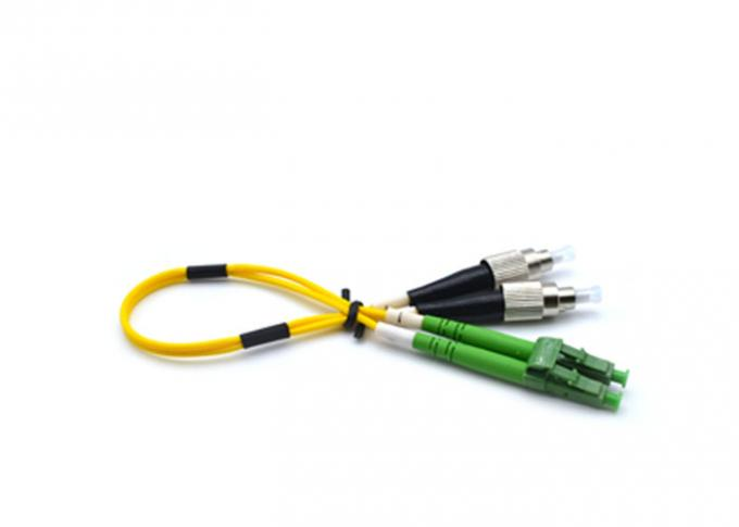 Duplex Patch Cord Fiber Optic Cable Patch Cord LSZH FTTH 0.9mm / 2.0mm / 3.0mm