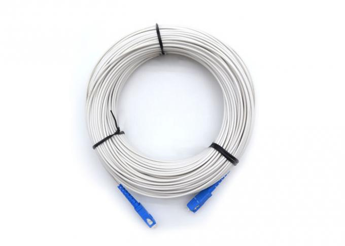Simplex G652D Fiber Optic Butterfly Cable Ftth Drop Patch Cord With SC/UPC Connector