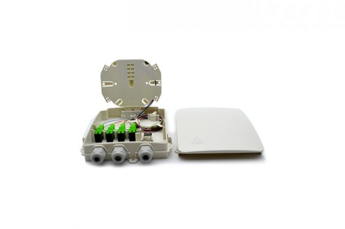 Outdoor 8 Cores Gray Fiber Optic Distribution Box With 1*8 PLC Splitter