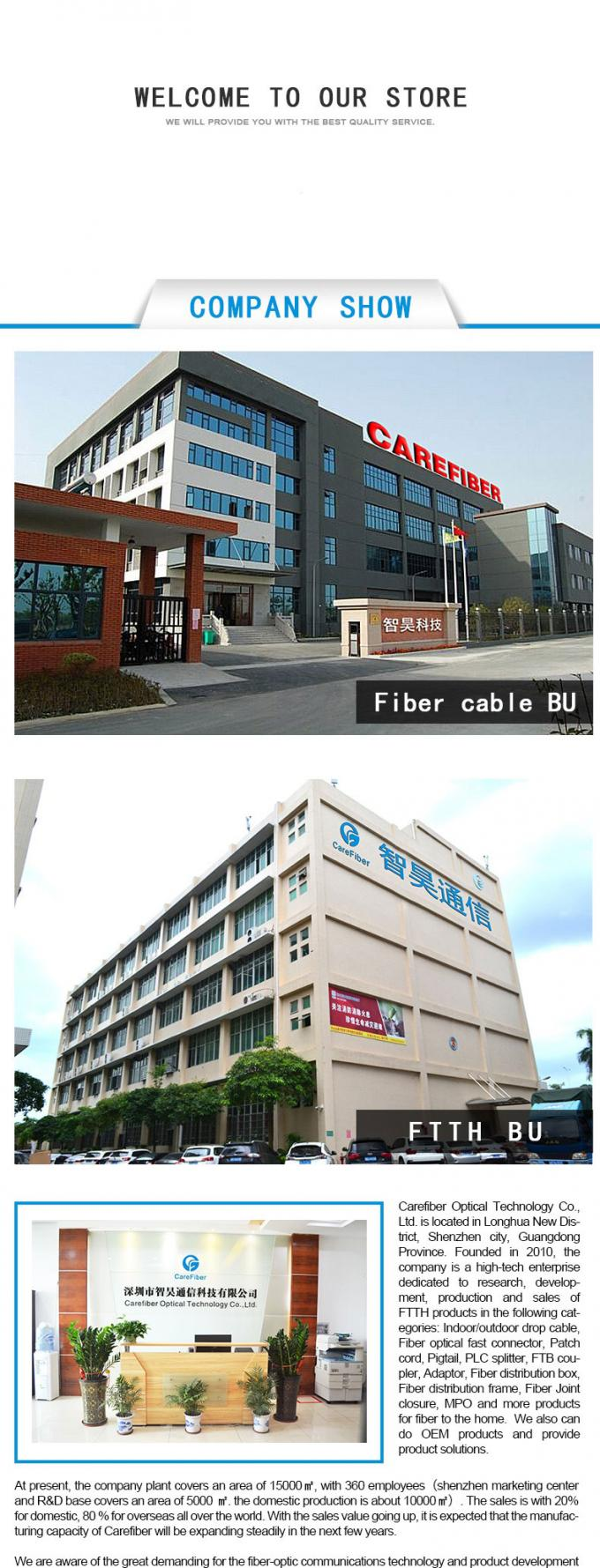 FTTH Double-fly Indoor Drop Cable FRP/KFRP Strength Member Optical Fiber Cable