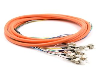China 2.0 / 3.0mm Optical Fiber Pigtail Flexible SM MM OM4 OM3 FC 4 - 48 Core For WAN supplier