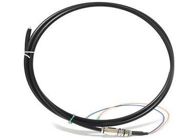 China Outdoor Optical Fiber Pigtail SC / APC 2 Core Black Jacket For Local Area Network supplier