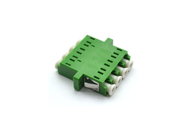China Telecom Network LC Fiber Connector , Quad Single Mode Flange Coupling Adaptor supplier