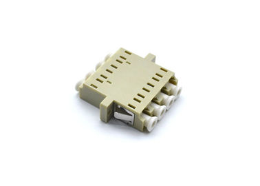 China 4 Core LC Quad Adapter For TFFH , Free Samples Beige Fiber Optic Connectors supplier
