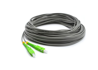 China SC / APC Optical Fiber Pigtail Single Mode Simplex 2 Core 50M With LSZH Jacket supplier