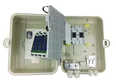 China FTTH Fiber Optic Distribution Box 32 Ports SMC Material Cable Termination Box supplier