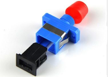 China FC - SC Fiber Optic Adapter Single Mode Blue Color For Local Area Network supplier
