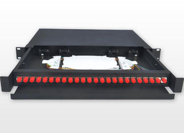 China 19 Inch FC 1U Fiber Optic Rack Mount Patch Panels 450 * 277 * 45mm For Network supplier