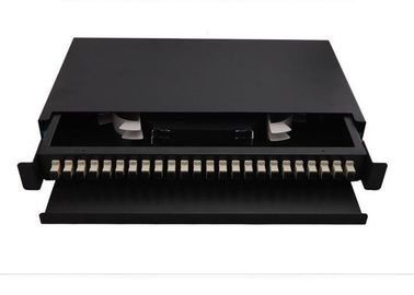 China CATV 72 Port Fiber Optic Patch Panel 24 Core SC MM Adapter ODF Low Excess Loss supplier