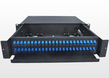 China Sliding Type 2U Fiber Optic Patch Panel Durable SC Optical Fiber Distribution Frame supplier