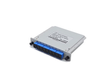 China ABS Material Fiber Optic PLC Splitter 1X8 SCUPC Cassette Type Grey For WDM - PON​ supplier