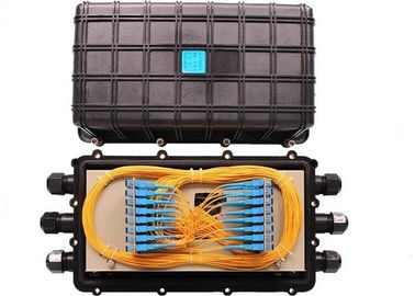 China Horizontal Fiber Optic Joint Box 3 In 3 Out Mechanical Sealing Fiber Enclosure Box supplier