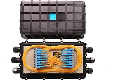 China Horizontal Fiber Optic Joint Box 3 In 3 Out Mechanical Sealing Fiber Enclosure Box supplier
