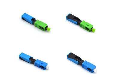 China Green Fiber Optic Fast Connector 52mm Fiber Optic SC Connector For 2 X 3mm Drop Cables supplier