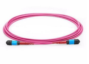 China OM1 OM2 MPO Trunk Cable , MTP - MPO Fiber Connector For LAN Network supplier