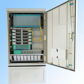 China 288fo Street Fiber Optic Cabinet Outdoor , Fiber Optic Splice Closure Cross Connection supplier