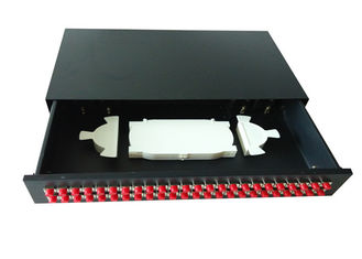 "China 19"" ODF Fiber Optic Joint Box , sliding fiber optic patch panel 48 port with FC adapter supplier"