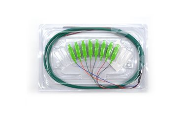 China High Return Loss Optical Fiber Pigtail 8 Cores SC SM Patch Cord Fan-Out Pigtail supplier