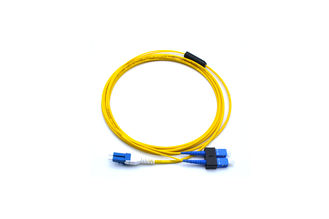 China SC-LC Singlemode Duplex Fiber Optic Cable / Connector / Jumper For Computer Network supplier