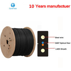 China One Core Indoor Drop Cable Bow-type GJXH Steel Wire Optical Fiber Cable supplier