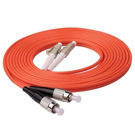 China Durable Multimode Fiber Optic Cable 1m 3ft LC UPC To FC UPC Duplex 2.0mm PVC OM1 supplier