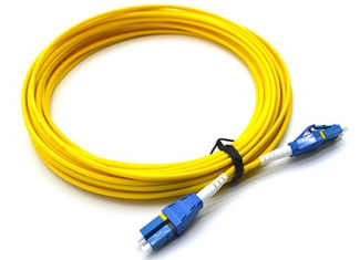 China 10M LC UPC To LC UPC Single Mode Patch Cord Flat Clip Uniboot Duplex OS2 500 Cycles supplier