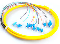 China LC / UPC Fiber Optic Jumper Cables , G657A Yellow Simplex Fiber Patch Cord factory