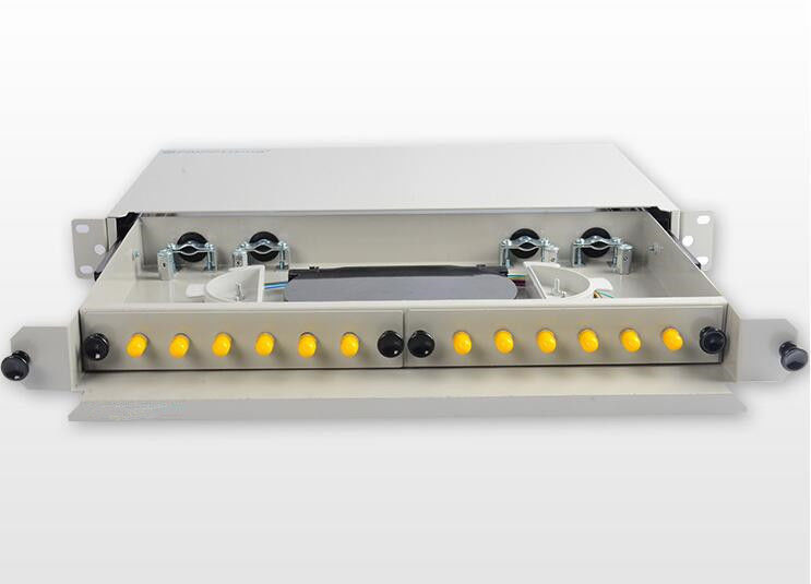 ST / UPC Fiber Optic Cable Patch Panel , Drawer Type ODF