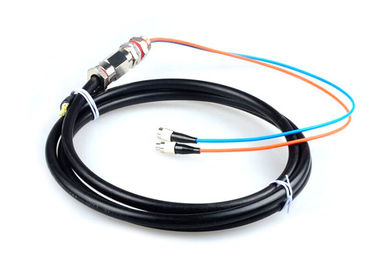 China Single Mode FC / UPC Optical Fiber Pigtail Waterproof 2 Core 5M G652D Easily mounted factory
