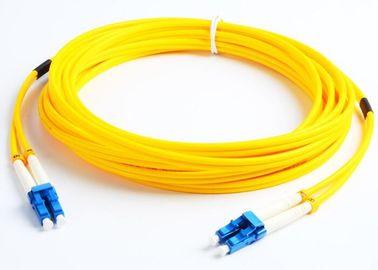 2 Core Single Mode Fiber Optic Cable 3M G652D 9 / 125um Fiber Jumper Cables