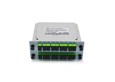 China Cassette Card Inserting Fiber Optic PLC Splitter 1x16 1X32 Modular design With Low PDL factory