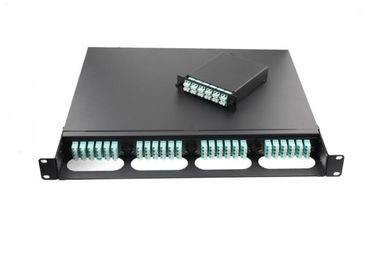 Black Metal Frame Optical Fiber Patch Panel 96 Core Multimode  Black / Beige