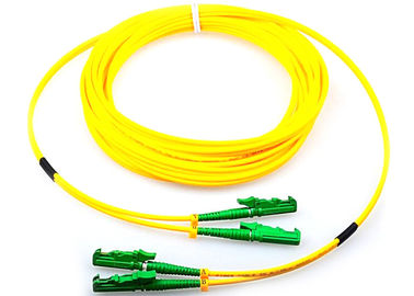 China Single Mode Fiber Optic Patch Cord Duplex G652D 9 / 125 Yellow With E2000 Connector factory