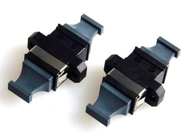 China MPO MTP Flange Fiber Optic Adapter Black Bare Fiber Adapter APC Polished factory