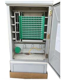 China SMC Material Optical Fiber Distribution Cabinet , 144 Core Fiber Wall Mount Enclosure factory