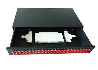 "19"" ODF Fiber Optic Joint Box , sliding fiber optic patch panel 48 port with FC adapter"