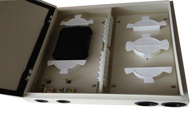ODF 24 Fc Port Wall Mount Patch Panel Enclosure , Fiber Optic Terminal Box