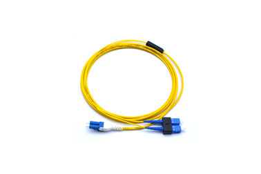 China SC-LC Singlemode Duplex Fiber Optic Cable / Connector / Jumper For Computer Network factory