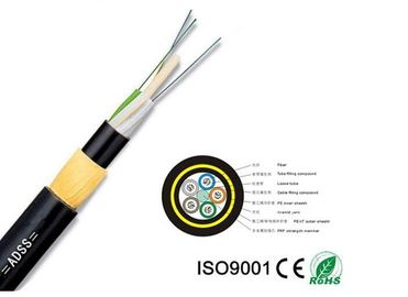Adss Apply To High Voltage Power And Have Aramid Yarn All-Dielectric Self-Supporting 12-144 Core Optic Fiber Cable